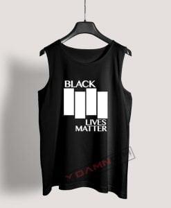 Black Lives Matter Black Flag Parody Tank Top For Women's Or Men's