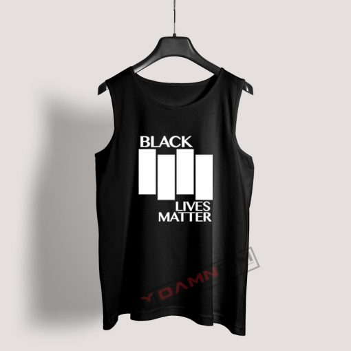 Black Lives Matter Black Flag Parody Tank Top For Women's Or Men's