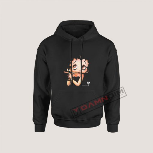 Betty Boop with a Cigar Hoodie