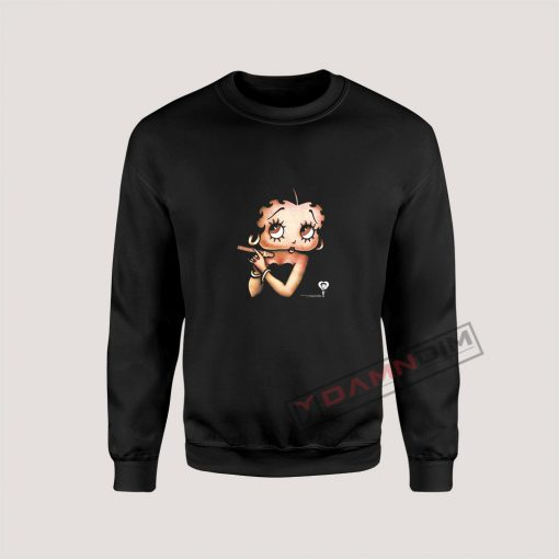 Betty Boop with a Cigar Sweatshirt