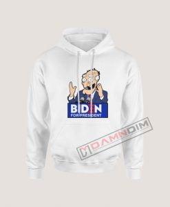 Joe Biden Face Cartoon Biden For President Hoodie
