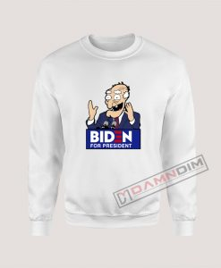 Joe Biden Face Cartoon Biden For President Sweatshirt