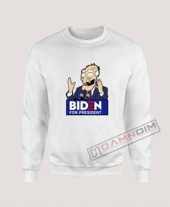 Joe Biden Face Cartoon Biden For President Sweatshirt