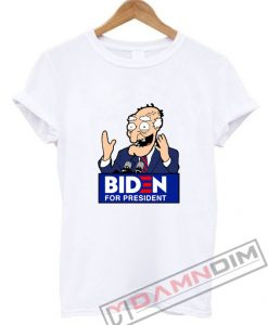 Joe Biden Face Cartoon Biden For President T-Shirt