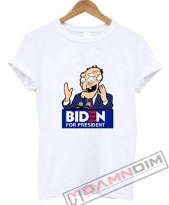 Joe Biden Face Cartoon Biden For President T-Shirt