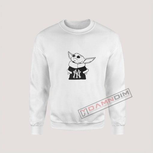 Baby Yoda Yankees Mandalorian Baseball Sweatshirt