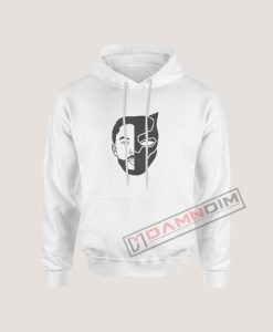 TChalla Face Silhouette RIP Black Panther Hoodie