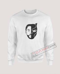 TChalla Face Silhouette RIP Black Panther Sweatshirt