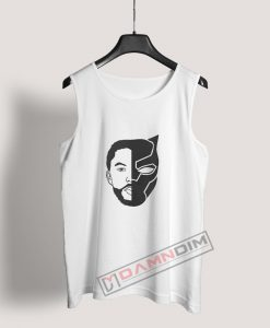 TChalla Face Silhouette RIP Black Panther Tank Top